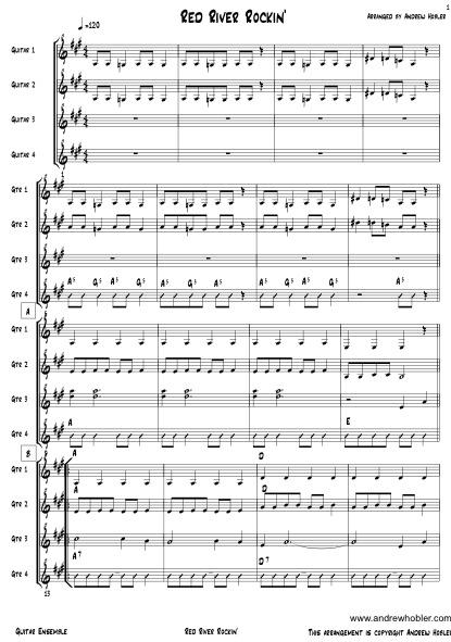 Guitar Ensemble Music Arrangements, Andrew Hobler Music Services ...